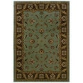 Traditional Blue/ Brown Area Rug (6'7 x 9'6)