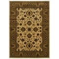 Updated Traditional Ivory/ Brown Area Rug (1'10 x 3'3)