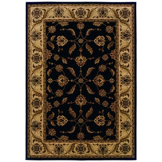 Updated Traditional Black/ Ivory Area Rug (7'10 x 10'10)