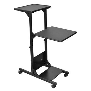 Offex Black Mobile Height Adjustable Presentation Projector Stand