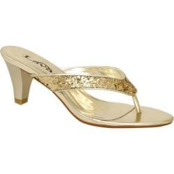 Women's Lava Shoes Special Gold Glitter