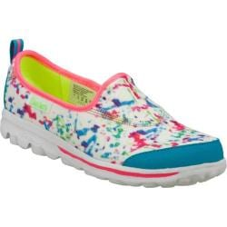Girls' Skechers GOplay Frisky White/Multi