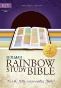 Holy Bible: King James Version, Brown, Bonded Leather, Holman Rainbow Study Bible (Paperback)