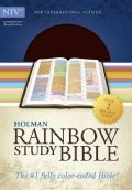 Holy Bible: New International Version, Brown/Chestnut, LeatherTouch, Holman Rainbow Study Bible (Paperback)