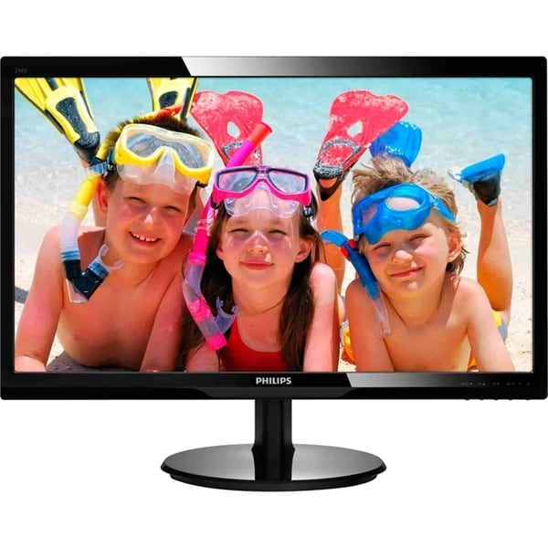"Philips 246V5LHAB 24"" LED LCD Monitor - 16:9 - 5 ms"