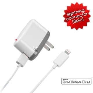 BasAcc Travel charger for Apple iPhone 5/ iPad 4/ Mini/ iPod Nano 7