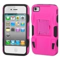 BasAcc Pink/ Black Advanced Armor Stand Case for Apple iPhone 4/ 4S