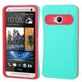 BasAcc Teal Green/ Hot Pink Card Wallet Back Case for HTC One M7