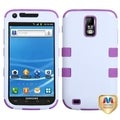 BasAcc Ivory/ Purple TUFF Hybrid Case for Samsung T989 Galaxy S II/ S2