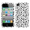 BasAcc Black Mixed Polka Dots Case for Apple iPhone 4/ 4S