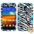 BasAcc Zebra Skin/ Teal TUFF Hybrid Case for Samsung Epic 4G Touch
