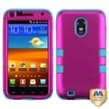 BasAcc Hot Pink/ Teal TUFF Hybrid Case for Samsung Epic 4G Touch