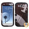 INSTEN Football/ Black TUFF Hybrid Phone Case Cover for Samsung Galaxy S3 i9300