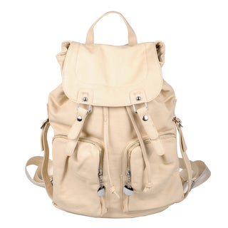 Journee Collection Women's Faux Leather Fold-over Backpack