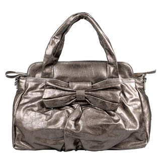 Journee Collection Women's Pewter Slouchy Double-Handle Satchel