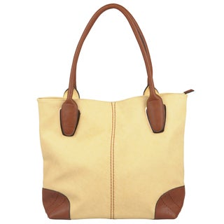 Journee Collection Women's Fashion Double Handle Tote Bag
