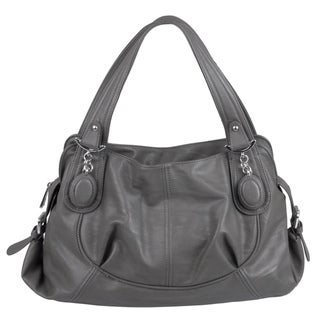 Journee Collection Women's Slouchy Faux-Leather Double-Handle Satchel
