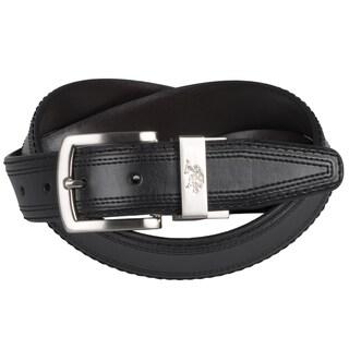 U.S. Polo Association Men's Reversible Leather Belt