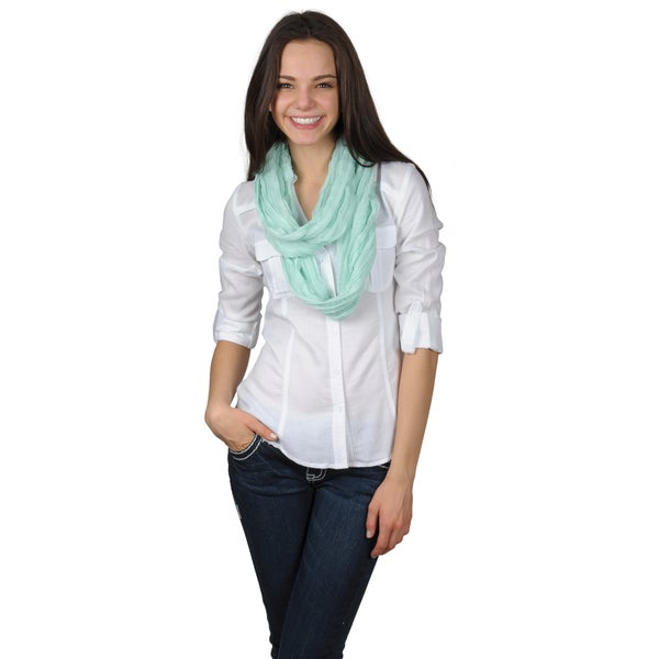 Journee Collection Women's Solid Color Figure 8 Scarf