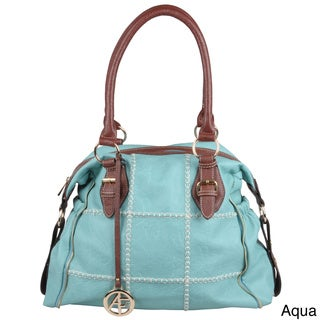 Journee Collection Women's Slouchy Patchwork Double-Handle Satchel