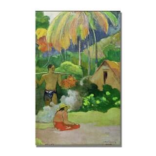 Paul Gauguin 'Landscape in Tahiti' Canvas Art