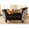 Enchanted Home Pet Ultra Plush Zebra Snuggle Bed