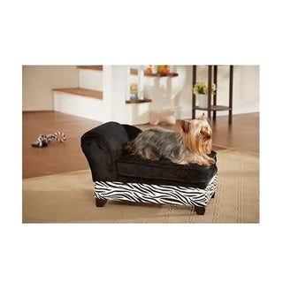 Enchanted Home Pet Ultra Plush Zebra Storage Bed