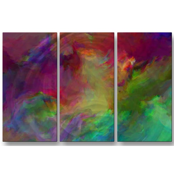 Paul McGuire 'Defiance' 3-piece Metal Wall Art