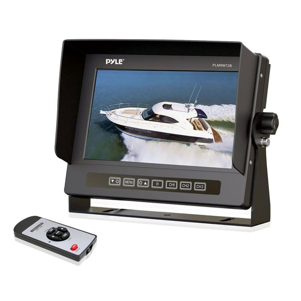 "Pyle PLMRM72B 7"" Active Matrix TFT LCD Marine Display - Black"