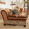 Enchanted Home Pet Ultra Plush Leopard Storage Bed