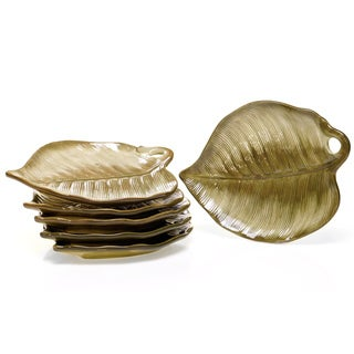 Certified International Las Palmas 3-D Palm Leaf Dessert Plates (Set of 6)