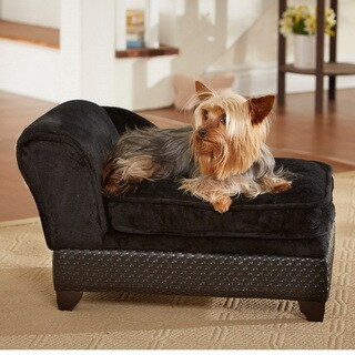 Enchanted Home Pet Ultra Plush Basket Weave Storage Bed
