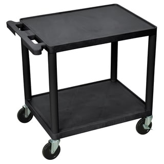 Offex Mobile 2 Shelf Adjustable Storage Utility Cart with 4 Casters