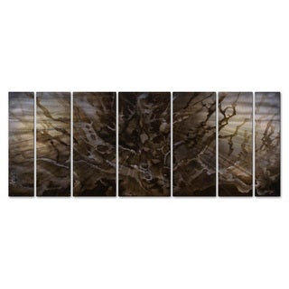 Michael Lang 'Fissures' 7-piece Metal Wall Hanging
