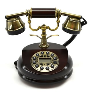 "7"" Round Brown Phone"