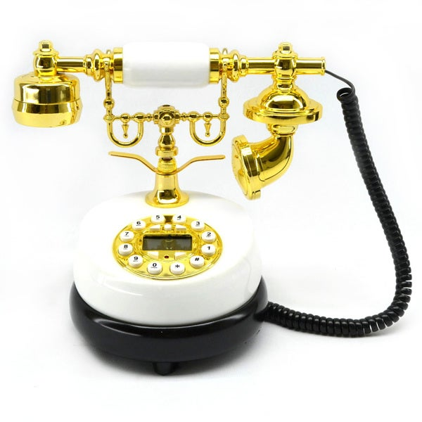 """6"""" Round White Phone"""