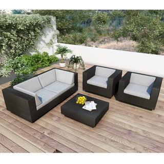 Sonax Park Terrace 5-piece Sectional Patio Set in Textured Black