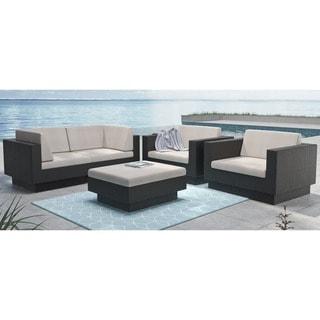 Sonax PPT-302-Z Park Terrace Textured Black 5-piece Sofa Patio Set