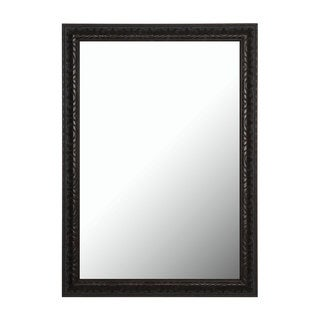 Classic Aged Accented Neutral Tones Mahogany Mirror