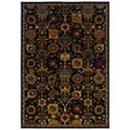 Traditional Black/ Multi Area Rug (6'7 x 9'6)