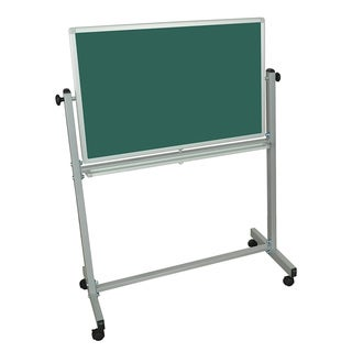 "Offex Mobile Double Sided Magnetic Reversible Chalk Board / White Board (36""x24"")"