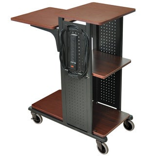 H. Wilson Boardroom Black/ Cherry Presentation Station