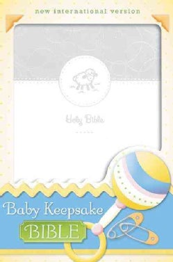 Holy Bible: New International Version, White, Italian Duo-Tone, Baby Keepsake (Paperback)