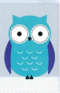 Holy Bible: New International Version, Turquoise Owl, Clear View, Glitter Collection Bible with Ribbon Marker (Paperback)