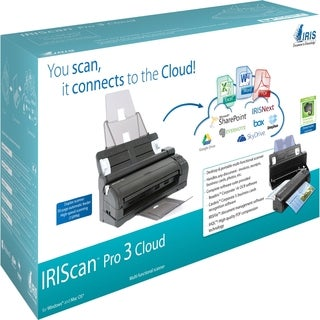 I.R.I.S IRIScan Pro 3 Cloud Sheetfed Scanner - 600 dpi Optical
