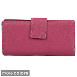 Mundi Women's Leather Tab Frame Clutch Wallet