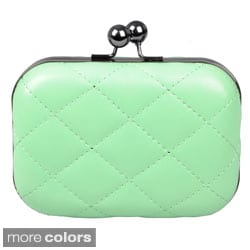 Journee Collection Women's Quilted Hard Case Evening Clutch