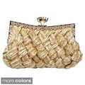 Journee Collection Women's Embellished Basketweave Evening Clutch