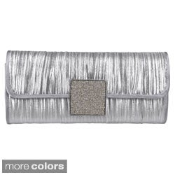 Journee Collection Women's Embellished Pleated Evening Clutch