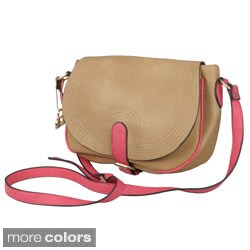 Journee Collection Women's Fold-over Cross-body Handbag